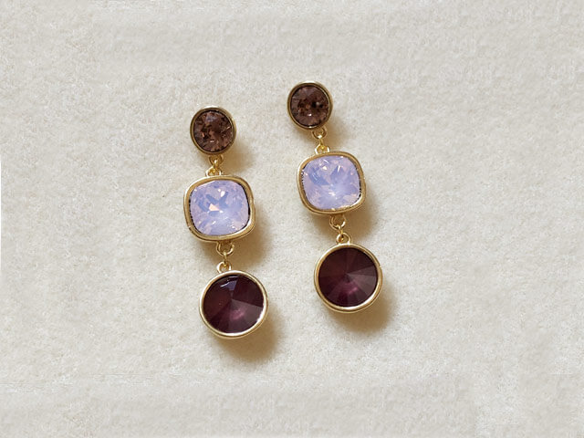 Pendientes Purple